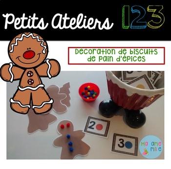 FRENCH Gingerbread 123 Center/ Atelier 123(Décorer biscuit de pain d'épices)