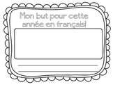 FRENCH - Goals and Strengths Worksheets