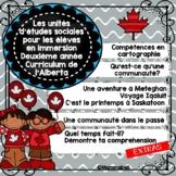 FRENCH - Grade 2 Alberta Social Studies COMPLETE BUNDLE SET
