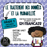 FRENCH Grade 2 Data Management Unit