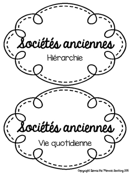FRENCH- Grade 4 Early Societies Activity Bundle!
