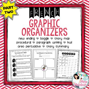 FRENCH Graphic Organizer Bundle PART TWO / Organigrammes utiles