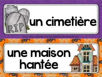 FRENCH HALLOWEEN WORD WALL - L'HALLOWEEN