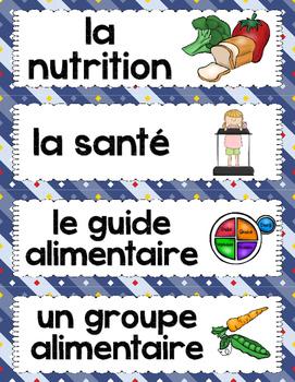 FRENCH HEALTHY EATING UNIT: La santé & l'alimentation (vocabulaire et activités)