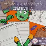FRENCH HOLIDAYS AND SEASONAL CRAFT & WRITING ACTIVITIES GROWING BUNDLE