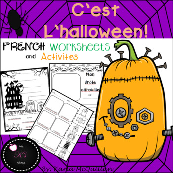 FRENCH Halloween Activities BUNDLE : C'est l'halloween!