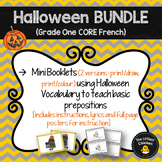 FRENCH Halloween BUNDLE (Mini Booklets & Preposition Song) (Grade 1 Core French)
