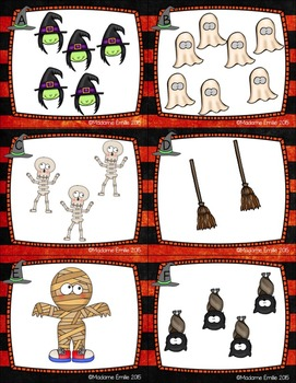FRENCH Halloween Count the room/ Cherche et compte (Halloween)