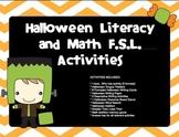FRENCH - Halloween FSL Activities