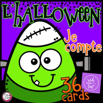 FRENCH Halloween Je compte de 1 à 20 • Digital Task Cards