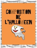 FRENCH Halloween Journal Article Writing Activity