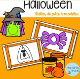 FRENCH Halloween Playdough mats/ Halloween (pâte à modeler)