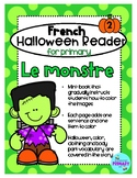 FRENCH Halloween Reader Mini-Book: Le Monstre
