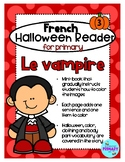 FRENCH Halloween Reader Mini-Book: Le Vampire
