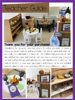 FRENCH Halloween Restaurant Dramatic Play Printables