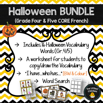 French Halloween Vocabulary Bundle Gr45 Core French By The
