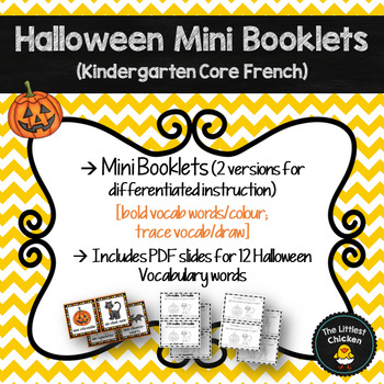 French Halloween Vocabulary Mini Booklet Kindergarten Core French