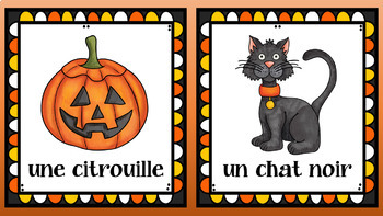 FRENCH Halloween Vocabulary Set & Song (K-3 CORE French)