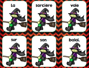 FRENCH {Halloween} scrambled sentences/Phrases en désordre {Halloween}