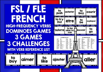 FRENCH VERBS DOMINOES #1