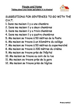 FRENCH - House and Home Pictures to practise speaking skills (2)