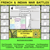 FRENCH and INDIAN WAR BATTLES Collaboration Activities BUNDLE 11 Activities!