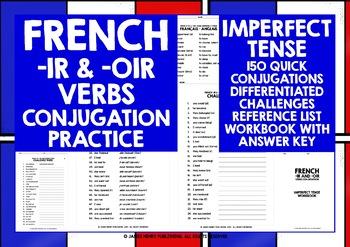 FRENCH -IR -OIR VERBS CONJUGATION #3