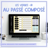 FRENCH -IR Verb Game (au passé composé) for Google Classroom™ Distance Learning