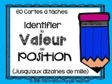 Cartes à tâches : Identifier la valeur de position jusqu'a