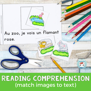FRENCH Emergent Reader - Au zoo, je vois UN (animaux du zoo)