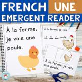 FRENCH Emergent Reader - je vois UNE (animaux de la ferme)