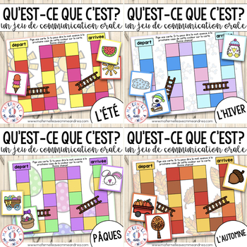 FRENCH Jeu de communication orale BUNDLE (Oral Communication Game)