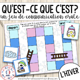 FRENCH Jeu de communication orale - L'Hiver (Winter Oral C