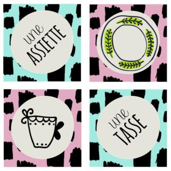 FRENCH - Jeu de vocabulaire - La bataille corse - La vaisselle