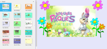 FRENCH- Joyeuses Paques Introduction to Vocab-- Smart Board