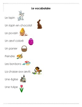 FRENCH- Joyeuses Paques Activity Book / Livret