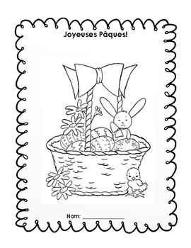 FRENCH- Joyeuses Paques Activity Book / Livret