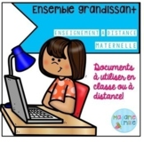 FRENCH Kindergarten Distance Learning Bundle/ Enseignement