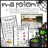 FRENCH Kindergarten Halloween Center- Ma potion de sorcières