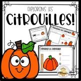 FRENCH Kindergarten Pumpkin Math & Science - Explorons les citrouilles