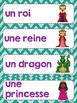 FRENCH {Knights and Castle} Word wall cards/ Mots étiquette Le château