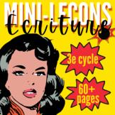 FRENCH L.A. 5/6/7 - WRITING MINI-LESSONS/ATELIERS D'ÉCRITURE