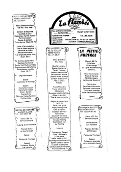 FRENCH - LA FLAMBEE- Reading Comprehension (Restaurants)