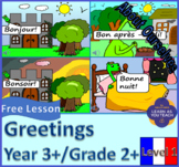FREE FRENCH LESSON (GRADE 2+): Greetings, saying your name, locating France