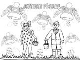French: La Légende des Cloches de Pâques (Coloring page)