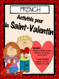 FRENCH - La Saint Valentin / Valentine's Day Activities