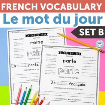 French Sight Words: mots fréquents | Le mot du jour Vol. 2