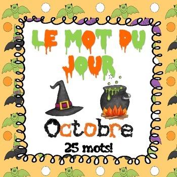 FRENCH Le mot du jour - Octobre (Halloween & Thanksgiving