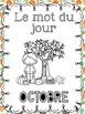 FRENCH Le mot du jour - YEAR LONG BUNDLE - SAVE 35% (September-June WORD WORK)