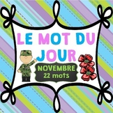 FRENCH Le mot du jour/Word of the Day - November (Remembrance Day Edition)